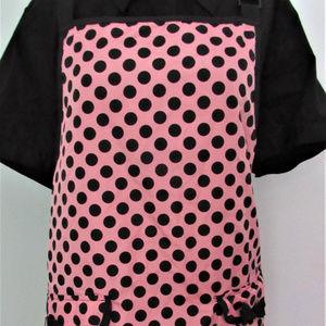 NWT Pink Polka Dot Kitchen Apron
